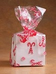 Candy Cane Mints Cellophane Printed Bags, 100 bags