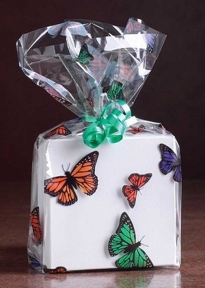 Monarch Butterflies Cellophane Printed Bags Small 3 5