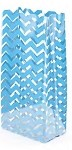 Chevron-Blue Cellophane Printed Bags, 100 bags