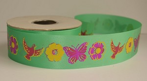 "Birds and Butterflies Theme Ribbon, 1-1/4"" x 25 yards"