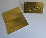 Best Wishes (Gold) Gift Card (3-1/2