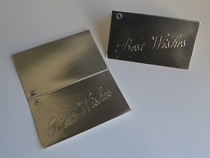 "Best Wishes (Silver) Gift Card (3-1/2"" W x 4-1/4"" H)"