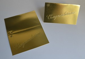 "Congratulations (Gold) Gift Card (3-1/2"" W x 4-1/4"" H)"