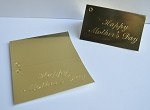 Happy Mother's Day (Gold) Gift Card (3-1/2