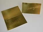 I Love You (Gold) Gift Card (3-1/2