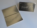I Love You (Silver) Gift Card (3-1/2