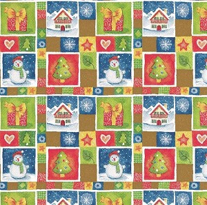 Alpine Holiday Gift Wrap, 24 Inch wide