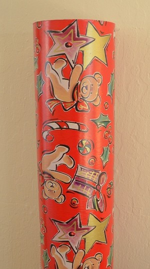 "Bears and Canes Half Ream Gift Wrap, 24"" x 417'"