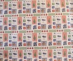 Folk Art Scrapbook Gift Wrap, 24 inch wide