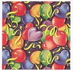 Painted Balloons Gift Wrap