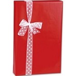 Red Gloss Gift Wrap, 24 inch wide