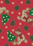 Tumbling Teddy Gift Wrap, 24