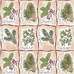Winter Botanical Gift Wrap, 24 inch wide