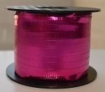 Cerise Metallic Crimped Ribbon, 3/16