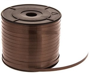 "Chocolate Metallic (Crimped) Ribbon, 3/16"" x 250 yards"