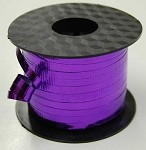 Purple Metallic Crimped Ribbon, 3/16