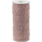 Chocolate/White 16-Ply Bakers Twine, 250 yards