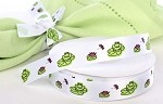 Frog & Lily Pad Satin Ribbon, 5/8