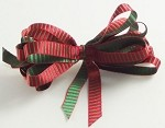 Red/Green & Green/Red Ladder Stripes Ribbon, 3/8