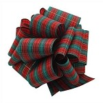 Metallic Tartan Plaid Ribbon, 25 yards