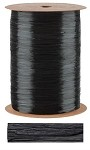 Black Pearlized Wraphia, 100 yards