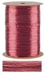 Burgundy Pearlized Wraphia, 100 yards