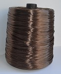 Chocolate Pearlized Wraphia, 2,200 yards ***SALE, It's like 22 rolls for the price of 6!***