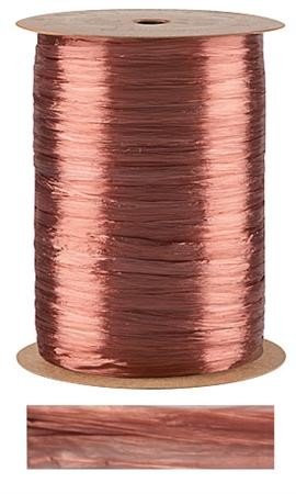 Copper Pearlized Wraphia, 100 yards