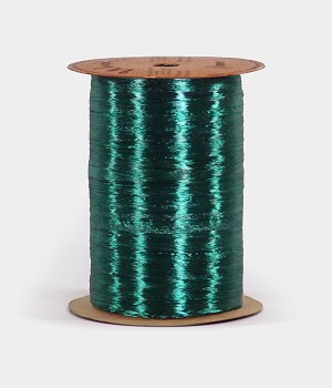 Hunter Green Pearlized Wraphia, 100 yards