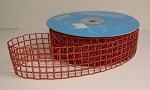 Red Glittery Mesh Ribbon, 1-1/2