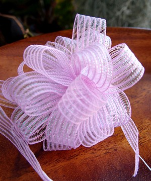 "Lavender Corsage Pull Ribbon, 5/8"" x 25 yards"