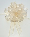 Ivory Organza Pull Bow with Satin Edge, 12 individually packed bows