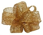 Gold Wired Laced Up Ribbon, 1-1/2