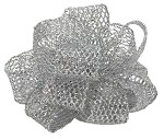 Silver Wired Laced Up Ribbon, 1-1/2