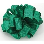 Emerald Partytime Wired Ribbon, 2-1/2