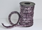Pink/Black Wired Tinsel, 50 feet