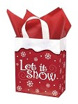 Let It Snow Printed Frosted Shopper Bags (8