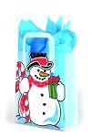 Jolly Snowman Printed Frosted Shopper Bags (8