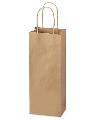 "Natural Kraft Shoppers (SPIRIT, 5.25"" x 3.25"" x 13"")"