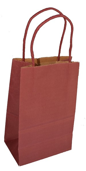 "Scarlet Petite Colored Shoppers  (ROSE, 5.25"" x 3.25"" x 8.25"")"