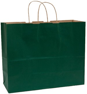 "Forest Green Tinted Shopper (VOGUE, 16"" x 6"" x 12"")"