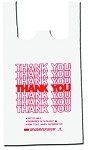 White Thank You T-Shirt Bags (12