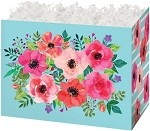 Watercolor Flowers Basket Boxes (Large, 10.25