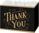 Thanks, Black and Gold, Basket Boxes (Large, 10.25