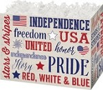 Patriotic Expressions Basket Boxes (Large, 10.25