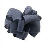 Linen Denim Wired Ribbon