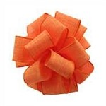 Linen Orange Wired Ribbon, 1.5 inch x 50 yards