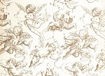Gold Cherubs Printed Tissue Paper (20