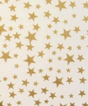 "Gold Stars on White Printed Tissue Paper (20"" x 30"" sheets)"
