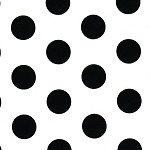 Large Dots Black Printed Tissue Paper (20